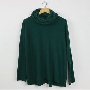 Vince 100% Cashmere Green Turtleneck Sweater